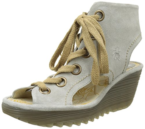 FLYA4|#Fly London Yaba702fly, Heels Sandals para Mujer Gris (concrete 002)