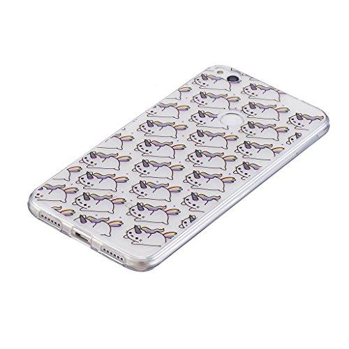Funda para Huawei P8 Lite 2017 / Honor 8 Lite (No se aplica a Honor 8) , IJIA Transparente Adorable Koala TPU Silicona Suave Cover Tapa Caso Parachoques Carcasa Cubierta para Huawei P8 Lite 2017 / Hon WL1