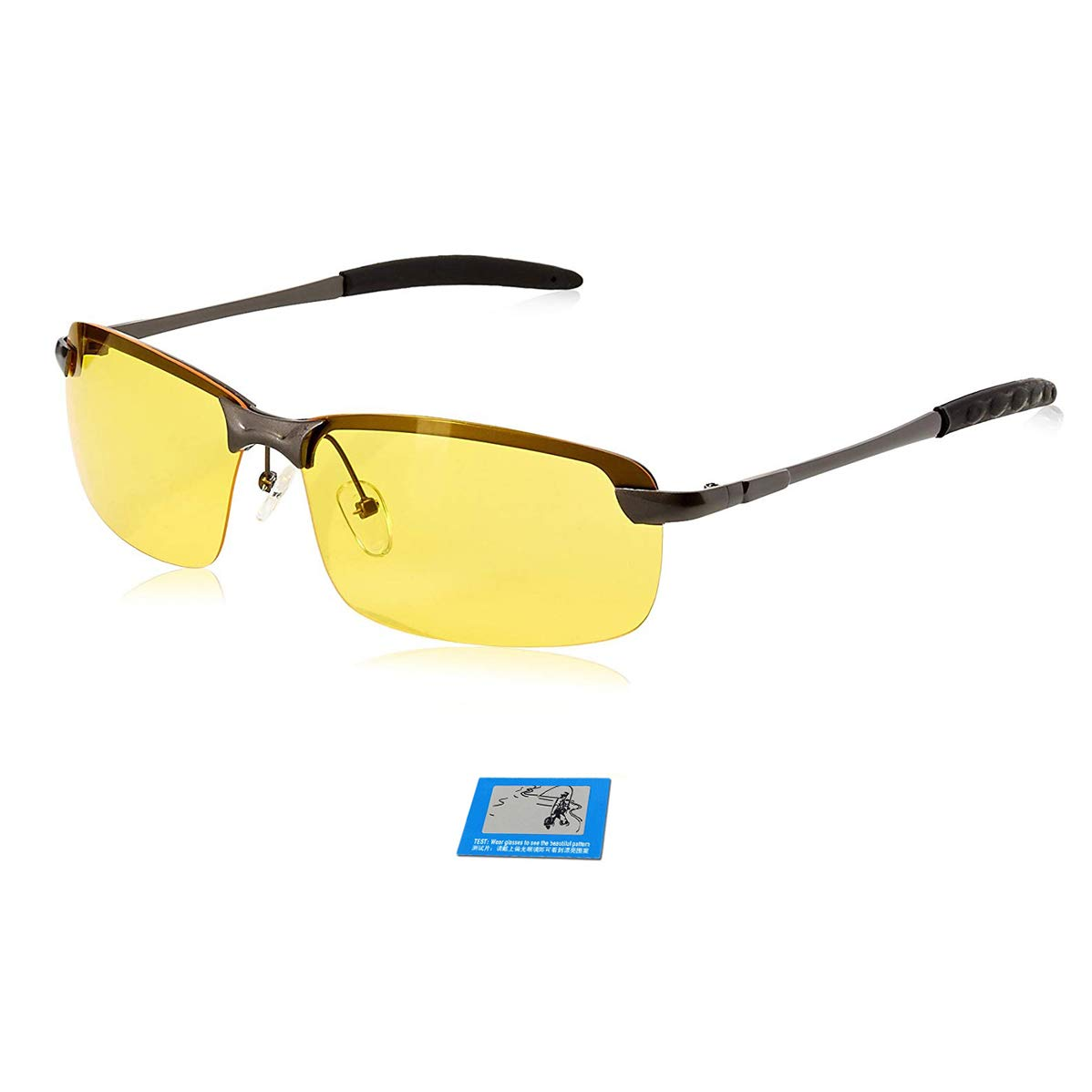 848f32c9d7fc MPRO-TECH UV 400 Anti Glare Night Vision Polarized Driving Unisex Glasses  (335082, 138, Yellow): Amazon.in: Clothing & Accessories