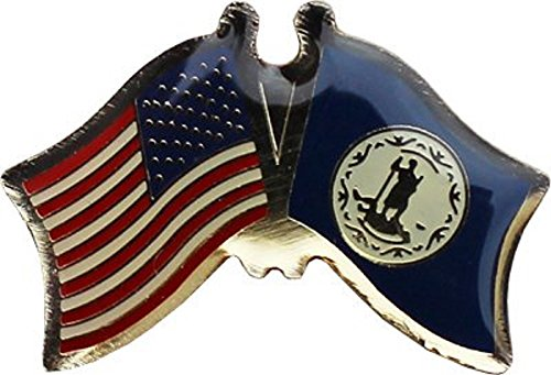 Virginia Flag Lapel Pin - Wholesale Pack of 3 USA American State Virginia Flag Bike Hat Cap lapel Pin