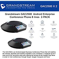 Grandstream Bundle of 2 Networks GAC2500 Android Enterprise Conference Phone