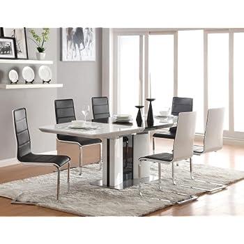 Amazon.com - Coaster Home Furnishings Glossy White Contemporary ...