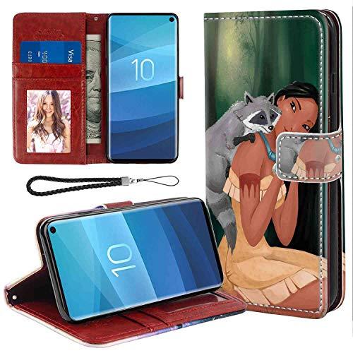 DISNEY COLLECTION Pocahontas Disney Wallet Case for Galaxy S10 [6.1-Inch] 360 Protective]()