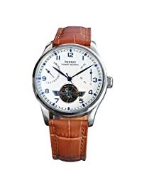 WhatsWatch Parnis watch 43mm power reserve White dial seagull movement date Automatic Self-Wind Men's watch PA-049