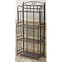Iron Outdoor/Indoor Folding Bakers Rack