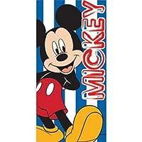Toalla de playa estampada para niños Mickey Mouse de Disney (28 pulg. X 56 pulg.) (Azul)
