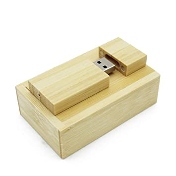 ToomLight USB Flash Drive de Madera + Caja Pendrive 4GB 8GB 16GB ...