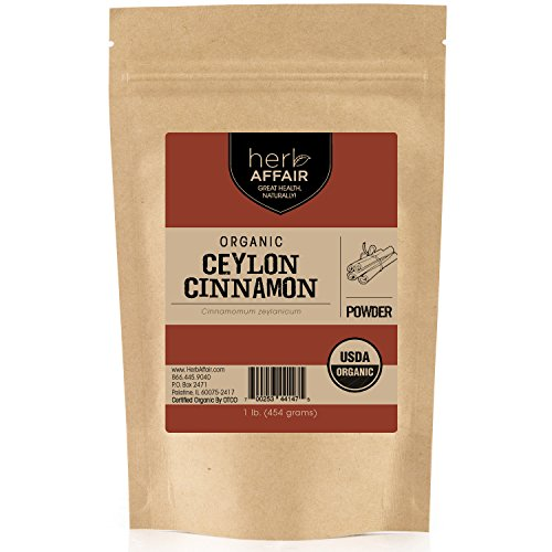 Organic Ceylon Cinnamon Powder (1 pound) | Freshly Ground in Small Batches for Premium Flavor and Aroma - Raw, Gluten-Free, Non-Irradiated & Non-GMO Superfood - True Cinnamon Grown in Sri Lanka