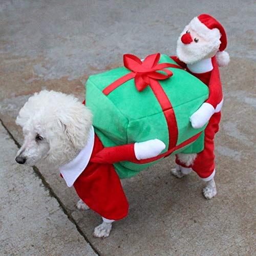 Cowmole Co. Glorious KEK Christmas Dog Costumes Funny Santa Claus Dog Clothes Dog Gift Puppy Fleece Coat Warm Winter Pet Clothes