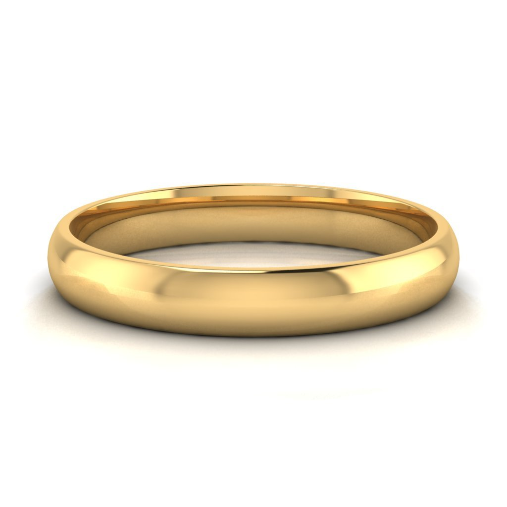 Buy Jewels 10k Gold Comfort Fit 4mm Wedding Bands for Men and Women (yellow-gold, 9.5)