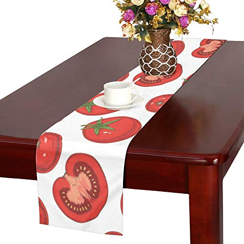 WHIOFE Small Tomato Fruit and Vegetable Cool Table Runner, Kitchen Dining Table Runner 16 X 72 Inch for Dinner Parties, Events, Decor ()