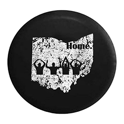 (Distressed - Spare Tire Cover Ohio Home State Edition 32 Inch)