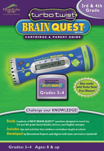 LeapFrog: Turbo Twist Brain Quest Cartridge and Parent Guide - 3rd and 4th Grade by LeapFrog