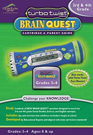 LeapFrog: Turbo Twist Brain Quest Cartridge and Parent Guide - 3rd and 4th Grade