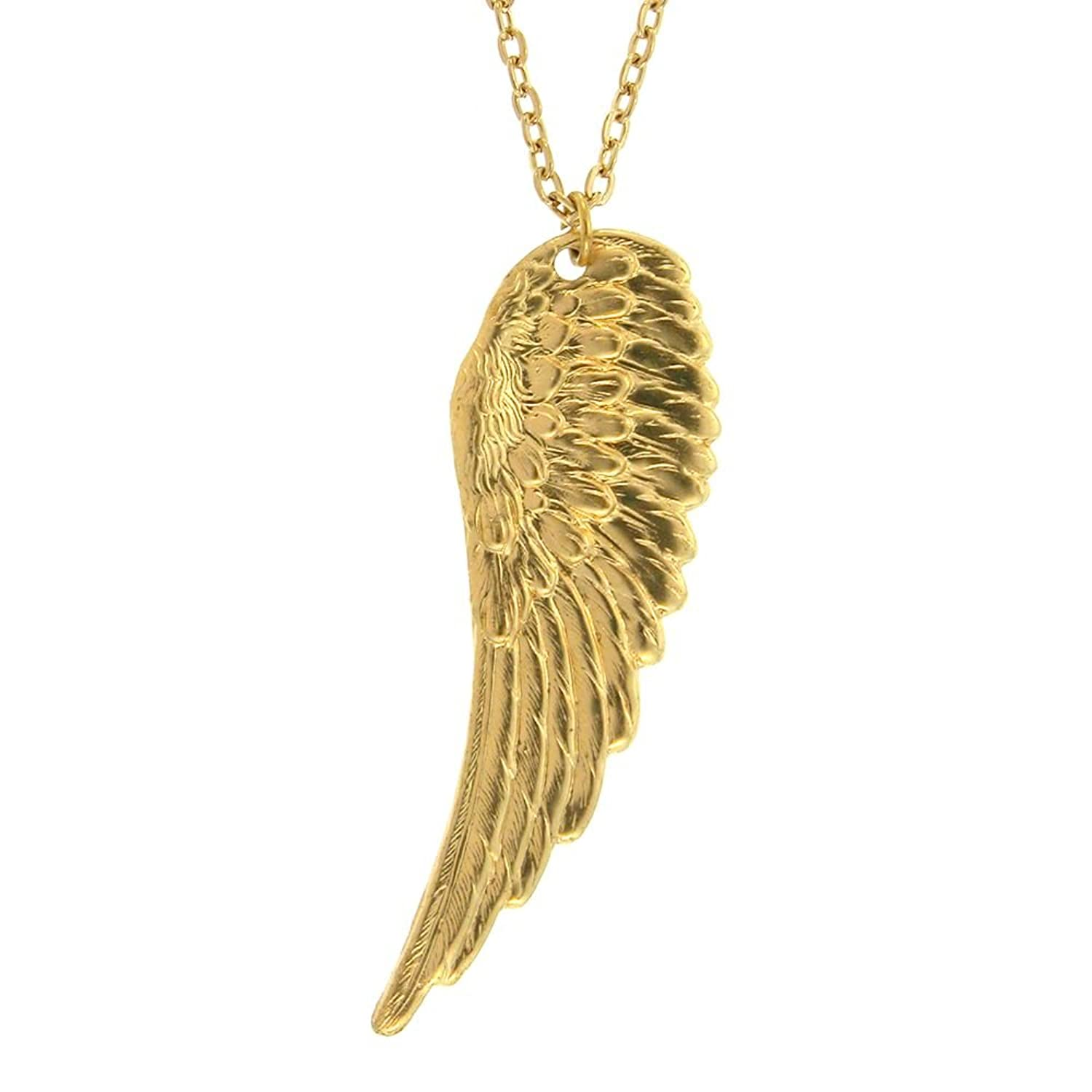Amazoncom 25 Angel Wing Necklace Large Necklace 212 in