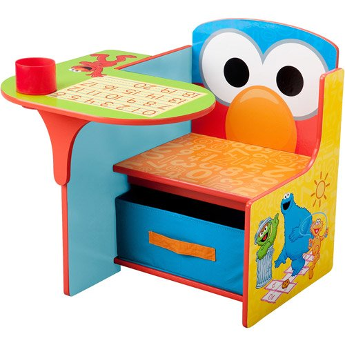 Sesame Stree Desk and Chair with Storage Bin by Sesame Stree