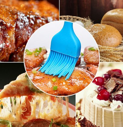 """Silcony 8. 4"""" basting brushes silicone heat resistant bpa free pastry brushes for bbq grill barbeque & kitchen baking set oil brushes soft bristles long handle (3 pack) (3, 8. 4 inches) 4 pure silicone & heat resistant - made of 100% food grade silicone material and bpa free. It can withstand heat up to 40-250 degrees. Soft & strong - comfortable handling with a nice and flexible grip. The metal rod under the silicone handle makes it easy to use for bbq & extreme heat. Also, the long handle will keep you safe from heat pressure. Saftey guaranteed - safe to use in oven, microwave, dishwasher & freezer. The matrial won't melt under any heat pressure and safe to use for bbq, baking, even cooking in a frying pan."""