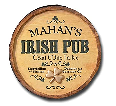 Amazon.com: Personalizado Pub irlandés barril Head Sign ...
