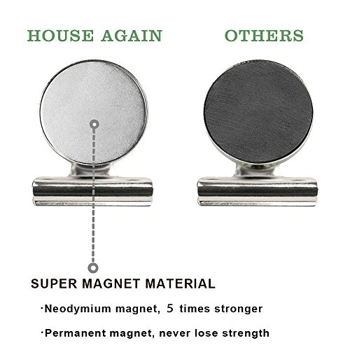 UPGRADED-8-Strong-Refrigerator-Magnet-Hook-Clips-with-Neodymium-Magnet-30mm-Wide-Perfect-Fridge-Magnets-Kitchen-Magnets-Calendar-Magnets-for-House-Office-Personal-Use-Silver