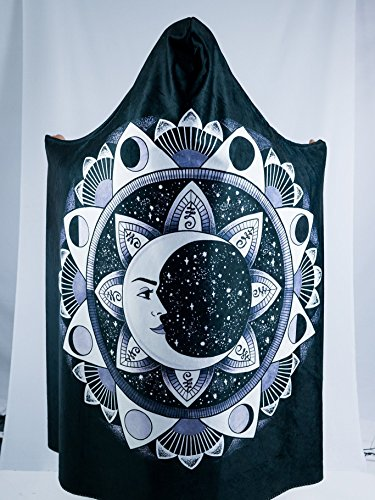 Moon Beams Premium Sherpa Hooded Blanket - Electro Threads by Electro Threads (Image #7)