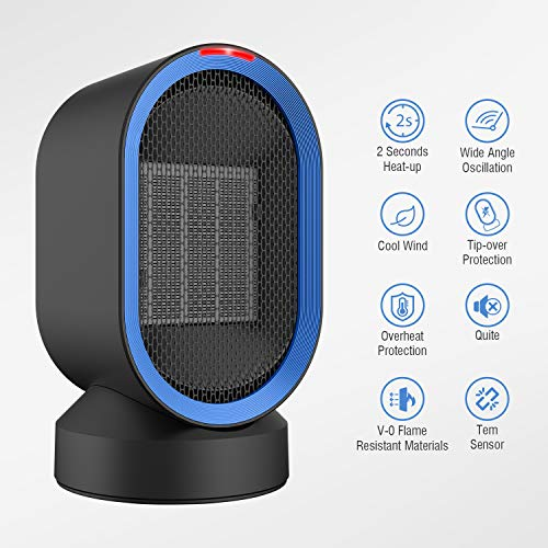 Nexgadget Ceramic Personal Heater Mini Space Heater Auto