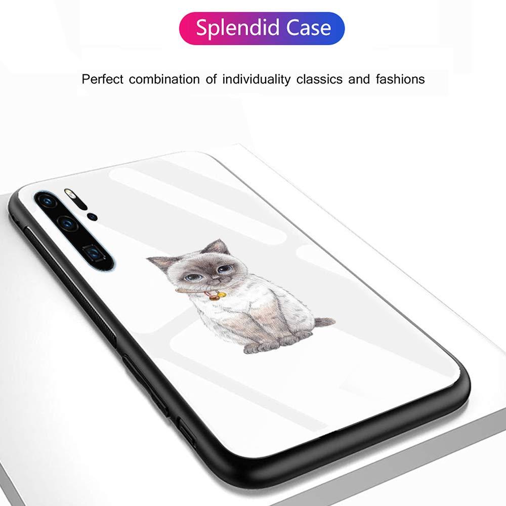Cornice Paraurti in TPU Silicone Morbido 【Antiurti】 3D Design Vogue Ultra Chic Caler Cover Compatibile con Samsung Galaxy A50 Custodia Protettiva in Vetro Temperato 9H 【AntiGraffio】