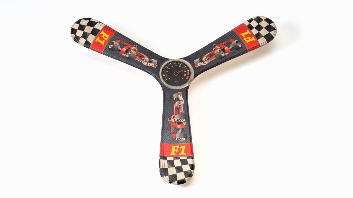Formula one fans, Handcrafted wooden boomerang for kids