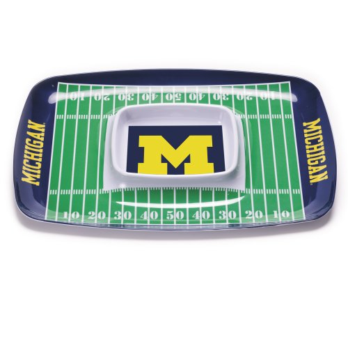 NCAA Michigan Wolverines Melamine Chip and Dip Tray