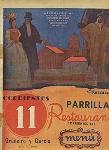 Amazon.com : Gruniero y Garcia Parrilla Restaurant Menu Buenos Aires Argentina 1950s : Everything Else