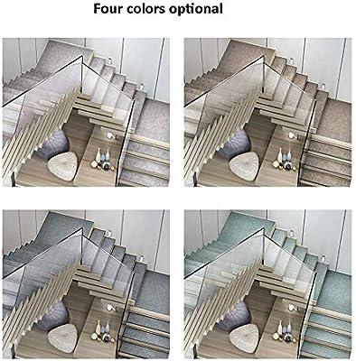WLFDD Alfombrilla para escaleras, Rectangular, autoadhesiva, Corta, Antideslizante, 4 Colores, 5 tamaños (Color: 30 x 100 cm, tamaño: 5 Unidades), A 30x120cm, 5 Unidades: Amazon.es: Hogar