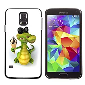 GagaDesign Phone Accessories: Hard Case Cover for Samsung Galaxy S5 - Friendly Crocodile Ice Cream