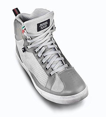 Shima Sx-2 Grå Dam, Damer Retro Italienska Sneaker Urban City Kvinnor Motorcykel Motorcykel Stövlar Sneakers För Dam (36-40) (40, Grå) Grå
