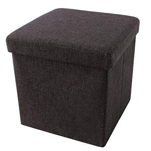 SONGMICS Footrest Linen like Charcoal ULOT10K