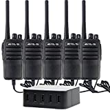 Retevis RT21 Walkie Talkies Rechargeable 16CH UHF 400-480 MHz FRS Two Way Radio( 5 Pack) with 40W 8A 5-Port USB Charger