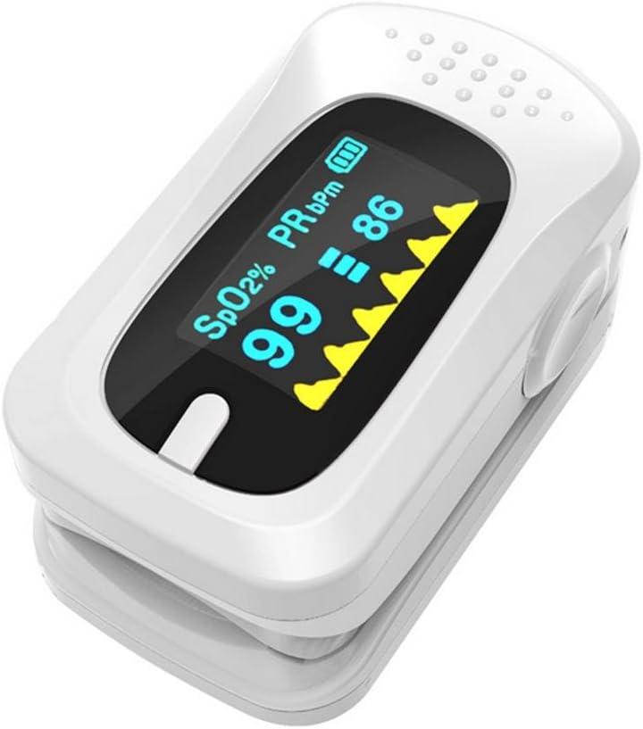 Oximetría de clip de dedo instrumento de ritmo cardiaco dedo pulso oximetría monitor Inicio y Professional Fast lecturas de la punta de dedo dedo - para adultos, niño