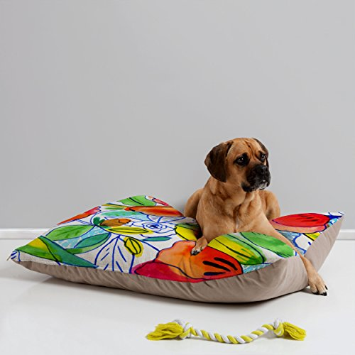 Deny Designs CayenaBlanca Ink Flowers Pet Bed, 40 by 30-Inch (Custom Ink Coupons)