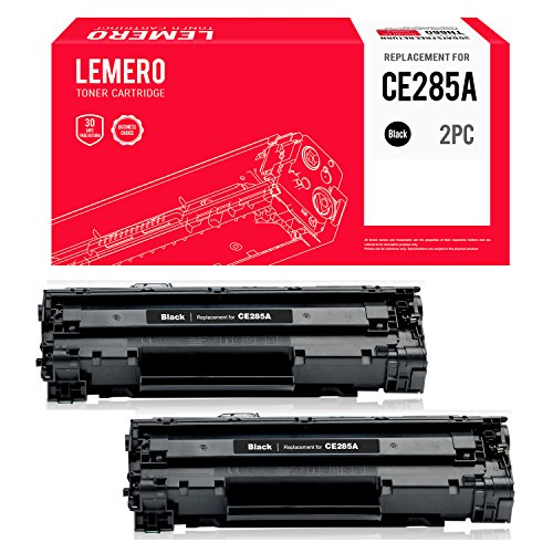 LEMERO CE285A 85A Toner Cartridge Replacement (2 Packs,Black) Use in Printers LaserJet Pro P1100 P1102 M1130 (3010 Laser Printers)