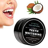 charcoal Tooth Whitener, FirstFly Teeth Whitening Powder Natural Organic Activated Charcoal Bamboo Toothpaste Whitens Stained Teeth (Black)