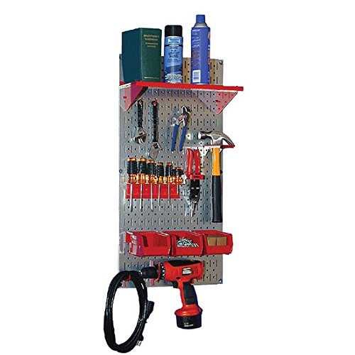 Wall Control Storage Systems 30-WGL-100GV Basic Galvanized Utility Tool Storage Kit Black Accessorie