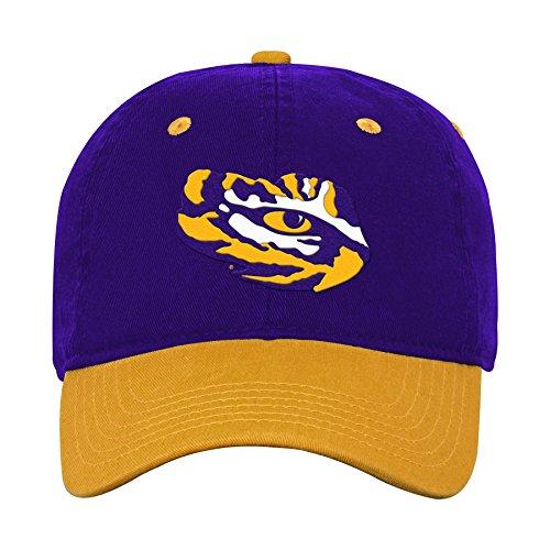 NCAA by Outerstuff NCAA Lsu Tigers Kids Two Tone Adjustable Slouch Hat, Regal Purple, Kids One -