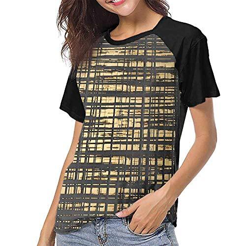 Raglan Baseball Tee Short Sleeve,3D Wall Art Picture Modern Cool Square S-XXL Baseball T-Shirt Tee Tops