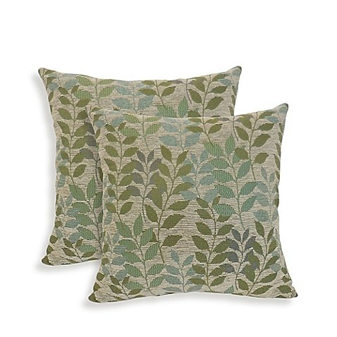 Arlee Home Fashions Fabian Chenille Leaf Throw Pillows (Set of (Arlee Pillow)