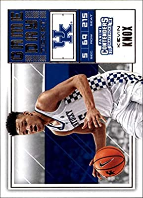 2018-19 Panini Contenders Draft Picks Basketball Game Day Tickets #11 Kevin Knox Kentucky Wildcats Official NBA Trading Card RC Rookie