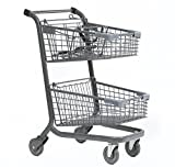 Advance Carts 110xc-Black-3pack XPress Series Shopping Cart, 110 L with Child Seat, Black Powder Coat (Pack of 3)