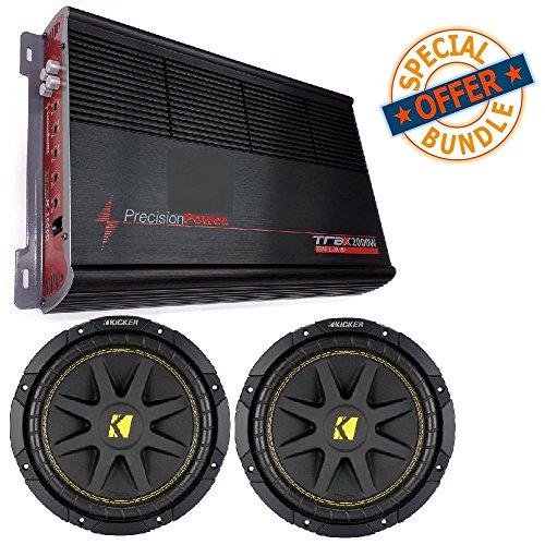 Car Amplifier TRAX1.2000D Watts Monoblock w/ (2) 10