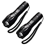 Flashlights, Hausbell Mini T6 Flashlight LED Flashlight Tactical Flashlight Atomic Beam Flashlight Torch Adjustable Focus Zoom Flashlight (2 packs)
