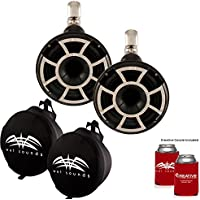 Wet Sounds REV 8 Swivel Clamp Tower Speakers with Wet Sounds Suitz speaker Covers - Black