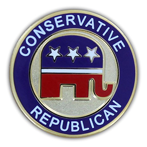 Elephant Pin Republican (Online Stores, Inc. Conservative Republican Lapel Pin)