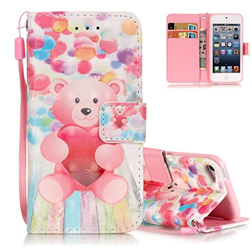 Wallet Case For Apple iPod touch 5/6 (Pink) - 3