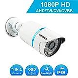COSOOS 1080P 1920TVL Bullet Security Camera, 2.0 Megapixel Hybrid 4-in-1...